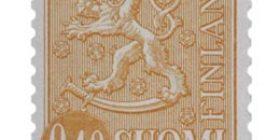 Malli 1963 Leijona oranssi postimerkki 0