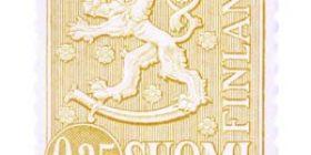 Malli 1963 Leijona oranssinkeltainen postimerkki 0