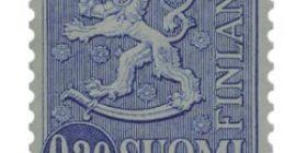 Malli 1963 Leijona sininen postimerkki 0