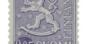 Malli 1963 Leijona violetti postimerkki 0