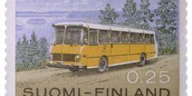Malli 1963 Postilinja-auto  postimerkki 0