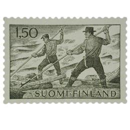 Malli 1963  Tukinuitto oliivi postimerkki 1