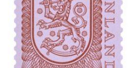 Malli 1975 Vaakuna punainen postimerkki 1