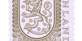 Malli 1975 Vaakuna ruskea postimerkki 0