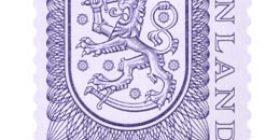 Malli 1975 Vaakuna violetti postimerkki 0