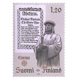 Mikael Agricolan Abckirja  postimerkki 1