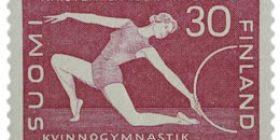 Naisten liikuntakasvatus lila postimerkki 30 markka