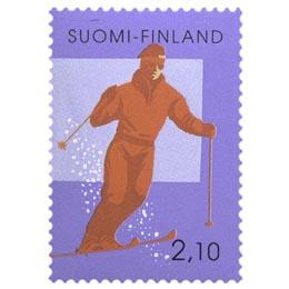 Nuorten harrastuksia - Laskettelu  postimerkki 2