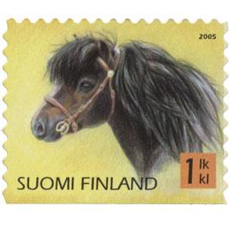 Poneja - Shetlanninponi  postimerkki 1 luokka