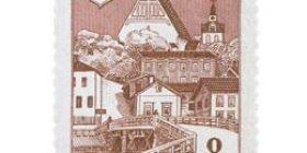 Porvoo 600 vuotta lilanpunainen postimerkki 8 markka