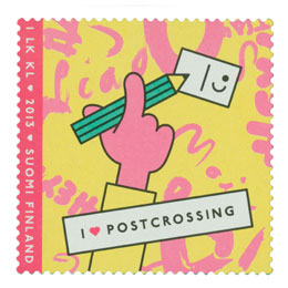 Postcrossing  postimerkki 1 luokka