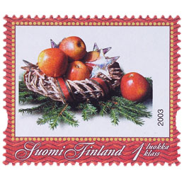 Posti - Omenakori  postimerkki 1 luokka