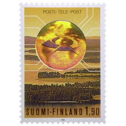 Posti- ja telelaitos liikelaitokseksi  postimerkki 1