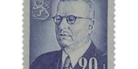 Presidentti J.K. Paasikivi 80 vuotta sininen postimerkki 20 markka