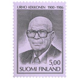 Presidentti Kekkosen surumerkki musta postimerkki 5 markka