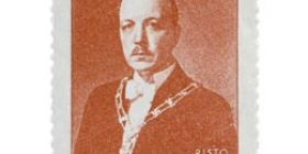 Presidentti Risto Ryti karmiini postimerkki 2 markka