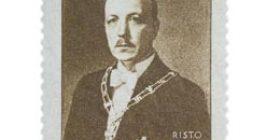 Presidentti Risto Ryti tummanruskea postimerkki 1