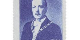 Presidentti Risto Ryti tummansininen postimerkki 3