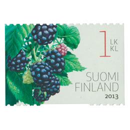 Puutarhamarjoja - Karhunvatukka  postimerkki 1 luokka