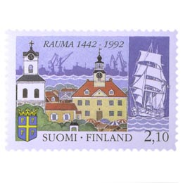 Rauma 550 vuotta  postimerkki 2