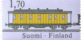Rautatiepostinkuljetus - Postivaunu 9991  postimerkki 1