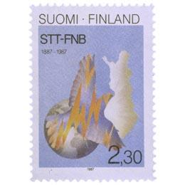 STT 100 vuotta  postimerkki 2