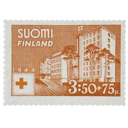 Sairaala karniininpunainen postimerkki 3