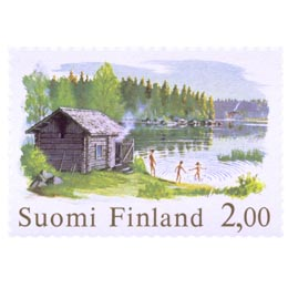 Sauna  postimerkki 2 markka