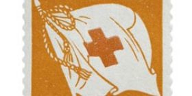 Standaari punaoranssi postimerkki 1 markka