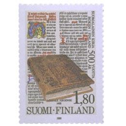 Suomalainen kirja 500 vuotta  postimerkki 1