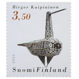 Suomalainen muotoilu - Helmilintu  postimerkki 3
