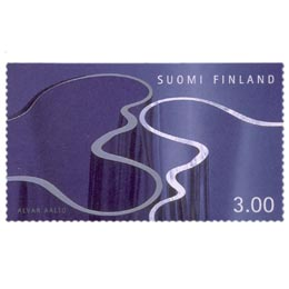 Suomalainen muotoilu - Savoy-maljakot  postimerkki 3 markka