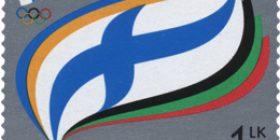 Suomen Olympiakomitea 100 vuotta  postimerkki 1 luokka