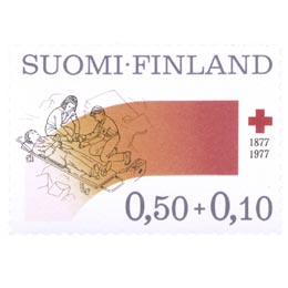 Suomen Punainen Risti 100 vuotta  postimerkki 0