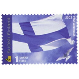 Suomen lippu  postimerkki 1 luokka