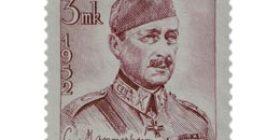 Suomen marsalkka C.G.E. Mannerheim punalila postimerkki 15 markka