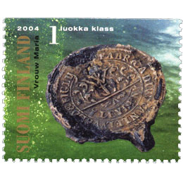 Suomenlahti - Kangassinetti  postimerkki 1 luokka