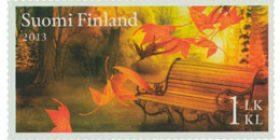 Syksyn merkit - Puistonpenkki  postimerkki 1 luokka