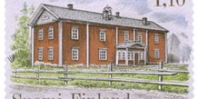 Talonpoikaisrakennuksia - Antilan talo Lapualta  postimerkki 1