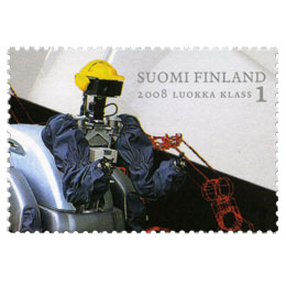 Teknillinen korkeakoulu 100 vuotta - Robotti  postimerkki 1 luokka