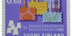 Tekstiiliteollisuus  postimerkki 0