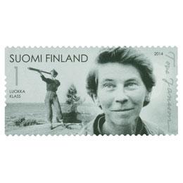 Tove Jansson 100 vuotta - Tove Klovharulla  postimerkki 1 luokka