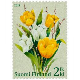 Tulppaanikimppu  postimerkki 2 luokka