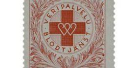 Veripalvelu - Verenluovuttajamerkki punainen postimerkki 20 markka