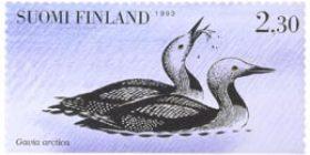 Vesilintuja - Kuikkapari  postimerkki 2