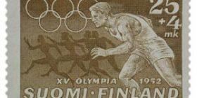 XV Olympialaiset - Juoksu ruskea postimerkki 25 markka