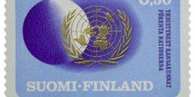 Yhdistyneet Kansakunnat 25 vuotta  postimerkki 0