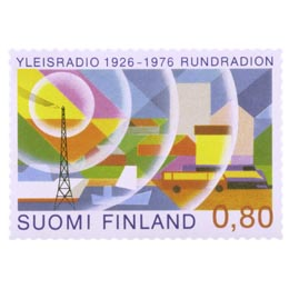 Yleisradio 50 vuotta  postimerkki 0